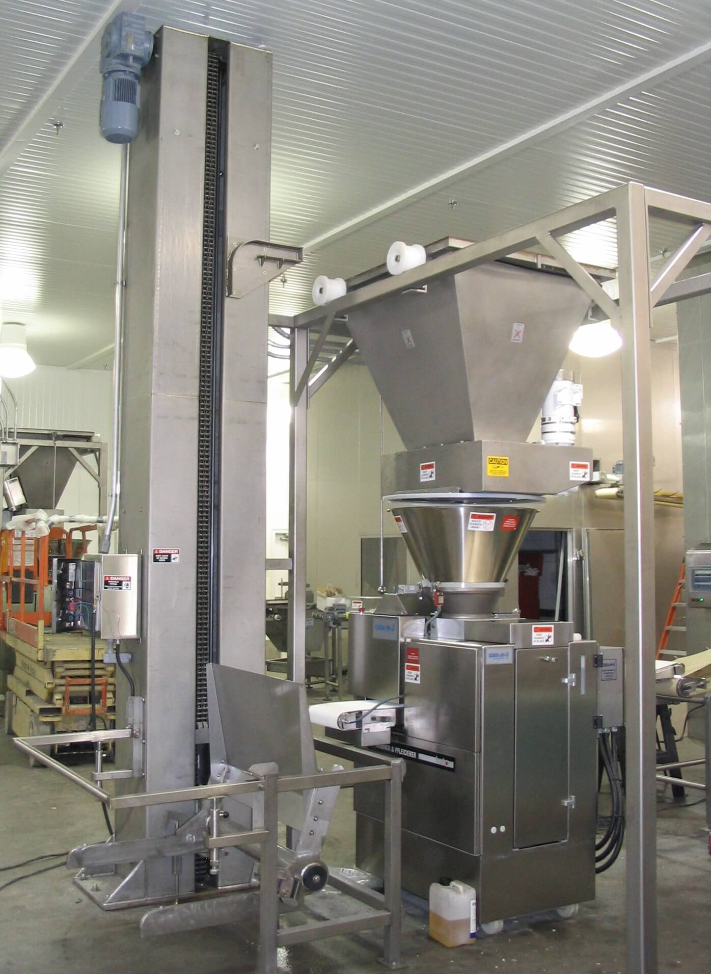 Single Column Dough Trough Elevator
